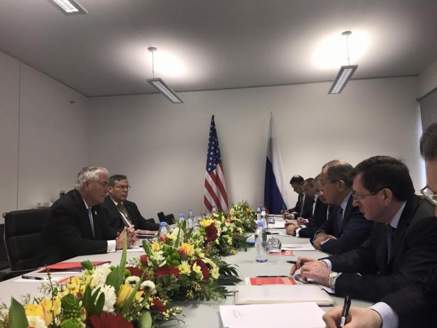Встреча Главы МИД РФ Сергей Лавров с Рексом Тиллерсоном