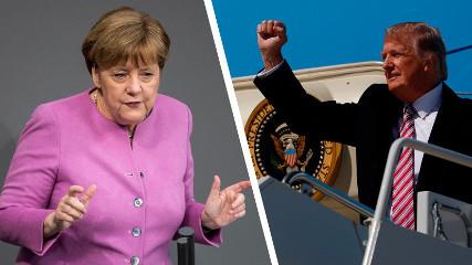 Пресс-конференция Трампа и Меркель