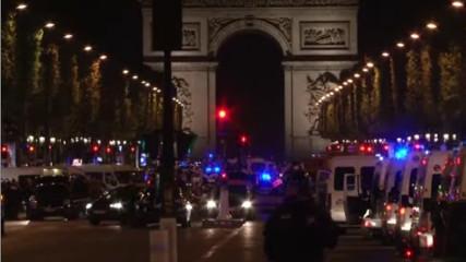 Париж: Один полицейский погиб, второй ранен (20 апреля 2017)