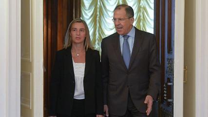 Прямая трансляция: Пресс-конференция Лаврова и Могерини