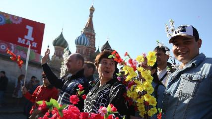 Первомайская демонстрация в Москве (Прямая трансляция)