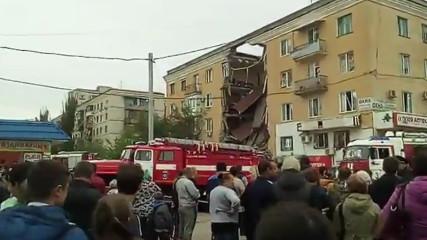 Взрыв газа в доме Волгограда (Видео)