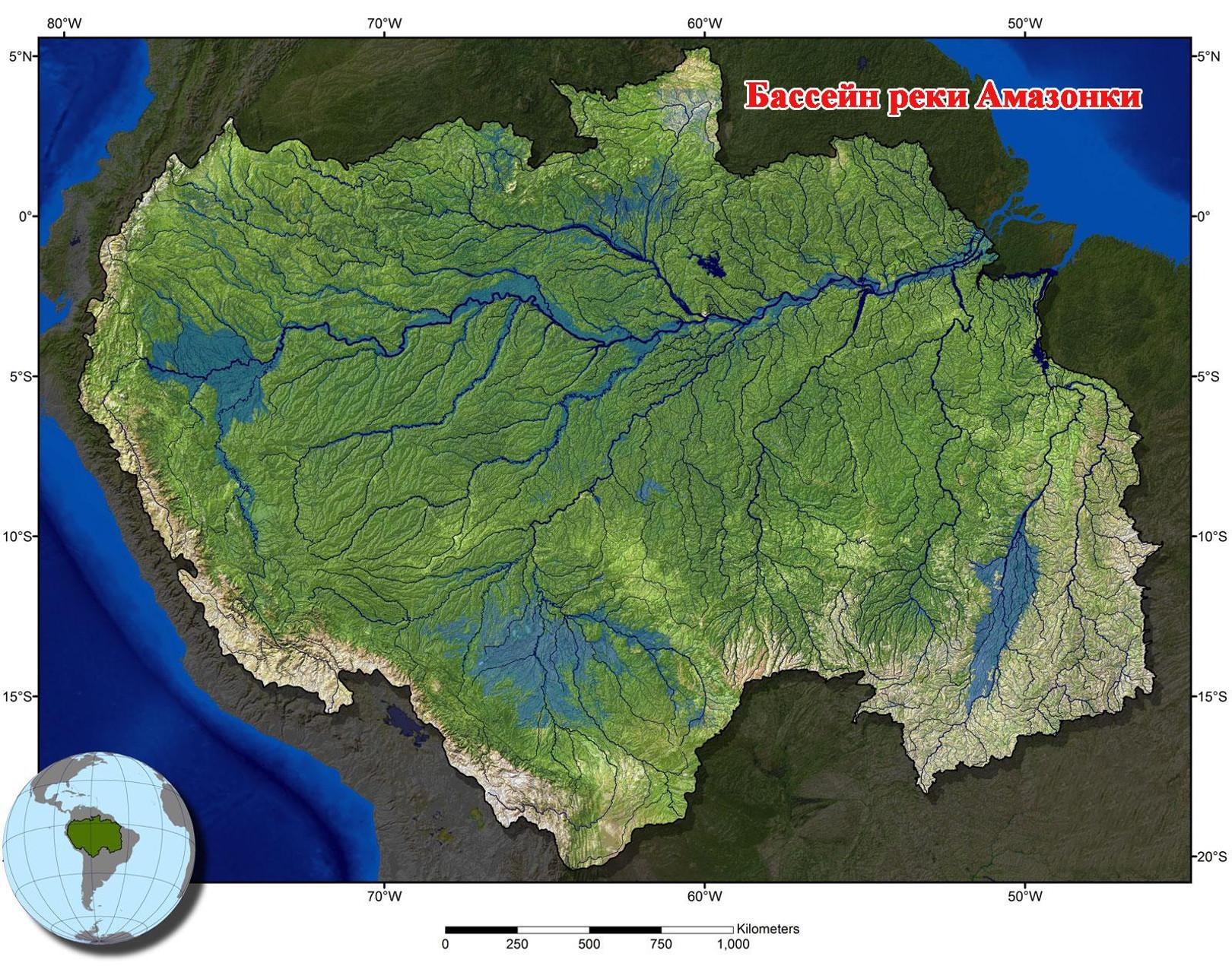 река амазонка картинки на карте подготовили