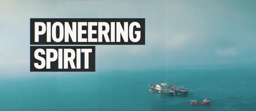 "PIONEERING SPIRIT - (судно-трубоукладчик) ""Турецкого потока"""