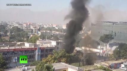 Видео с места взрыва, где погибли 35 человек (Кабул)
