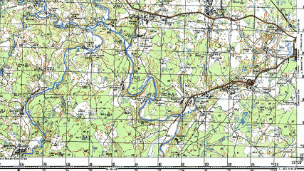 Чтение топографической карты