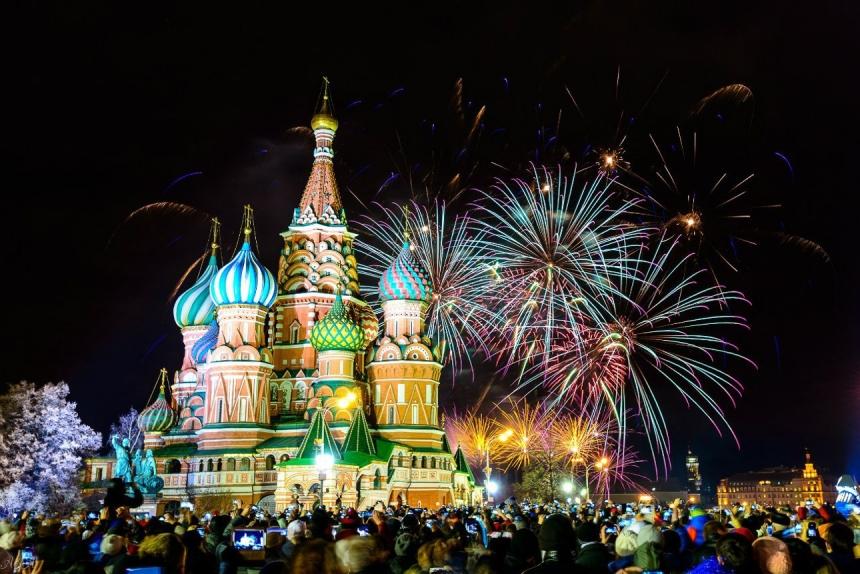 Концерт на Красной площади в честь 870-летие Москвы