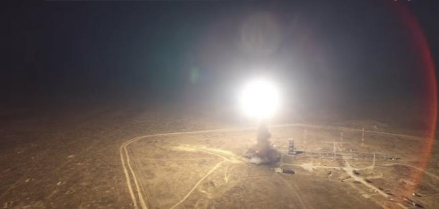 Пуск баллистической ракеты Тополь (Капустин Яр) - ВИДЕО