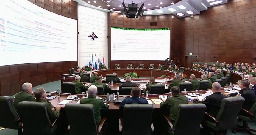 27 октября в Москве под руководством Министра обороны Российской Федерации генерала армии Сергея Шойгу состоялось заседание Коллегии Минобороны России.