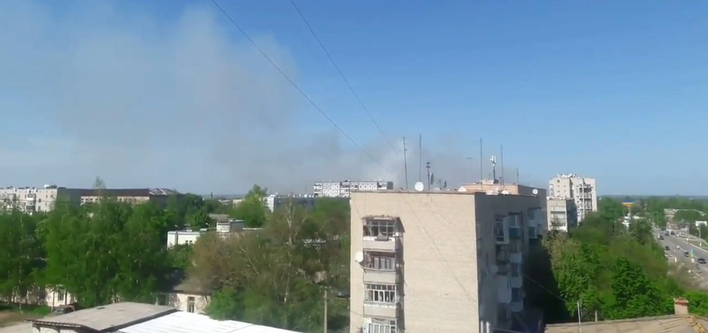 В Балаклее вновь загорелся склад боеприпасов