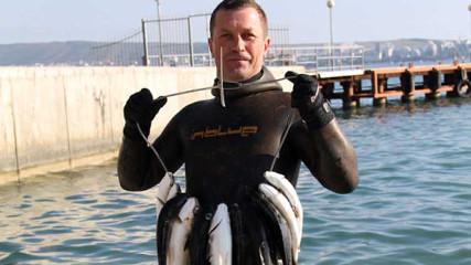 Андрей Фещенко получил мастера спорта по подводной охоте