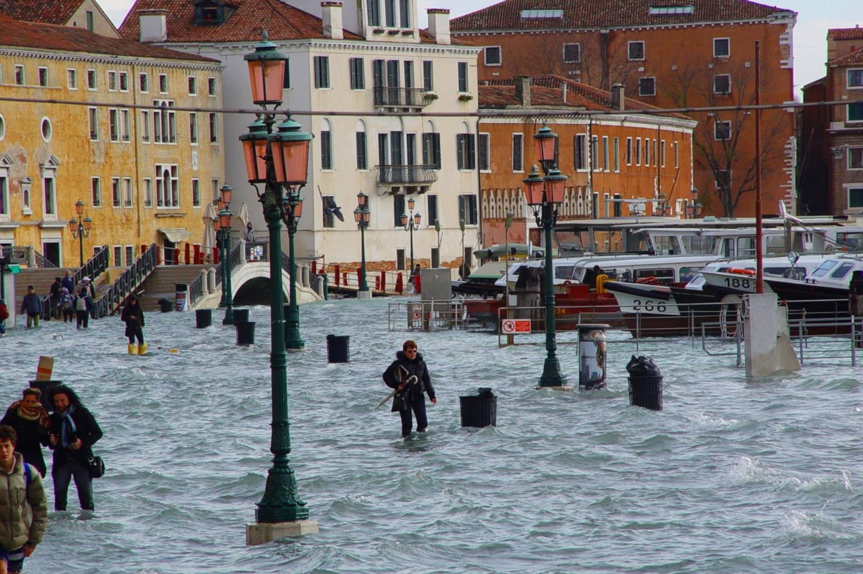 70% Венеции затопило (29 октября 2018)