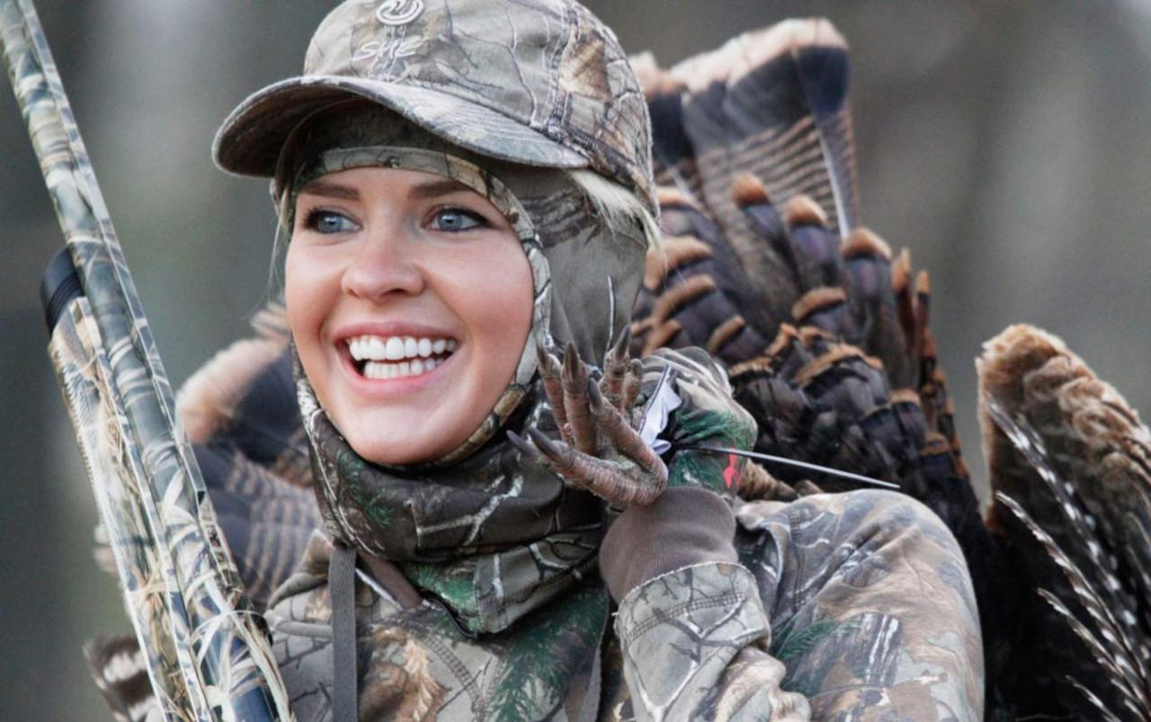 Девушка на охоте