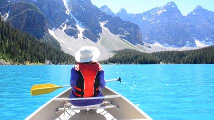 Озера Морена и Луиза в парке Банф (Канада)