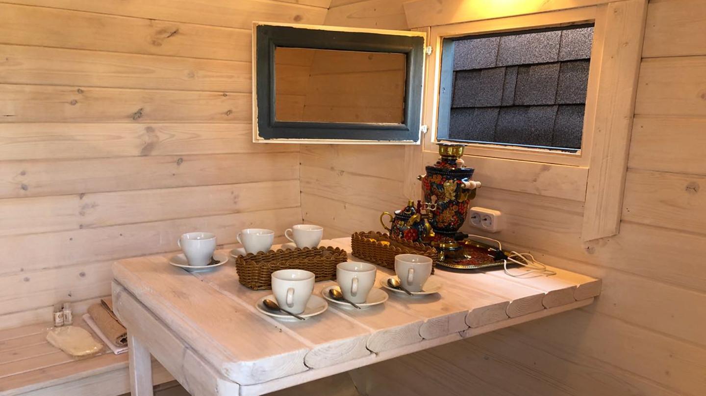 Чай с травами в бане