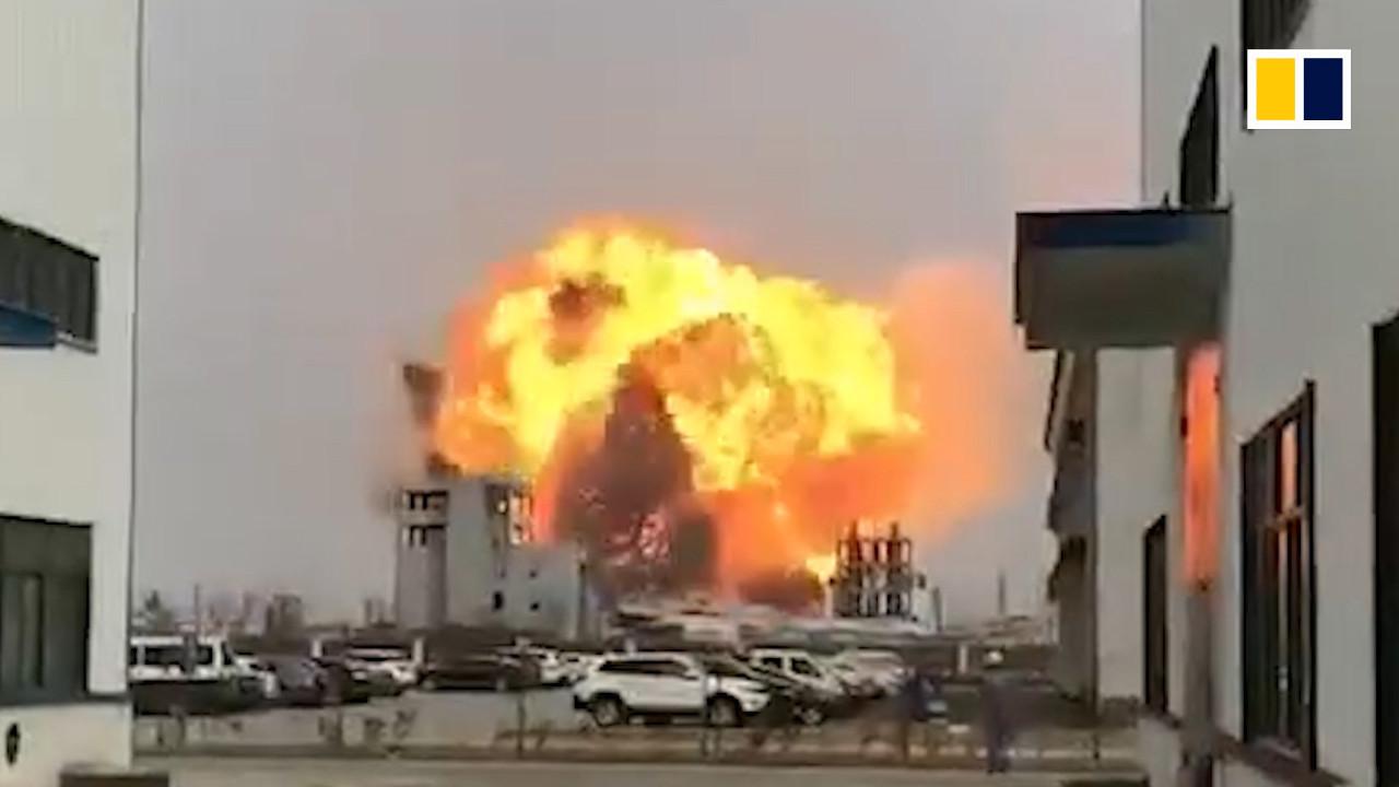Взрыв в Китае - Около 1000 человек пострадали