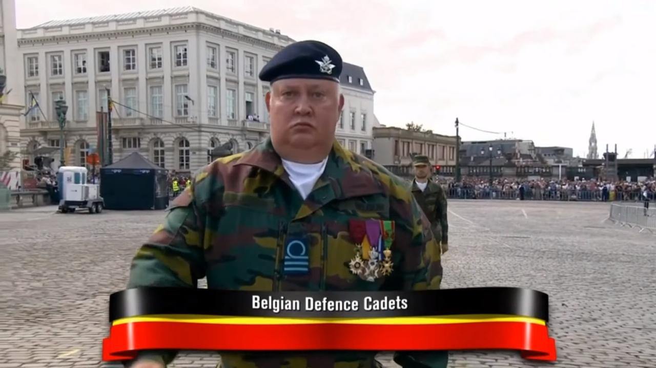 Марш бельгийских курсантов