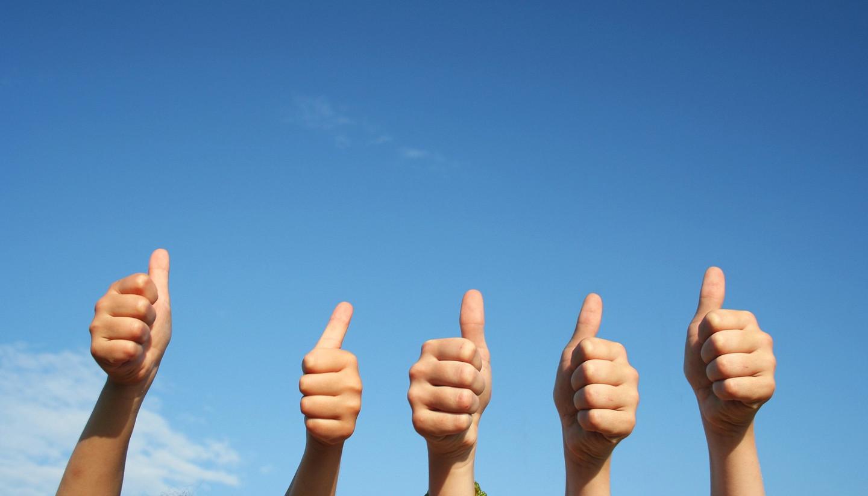 История знака большой палец в верх (Like)
