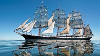 Спасение польской практикантки в Атлантике - Триумфальная победа барка «Крузенштерн»