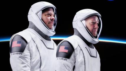 Запуск Crew Dragon с экипажем (Видео)
